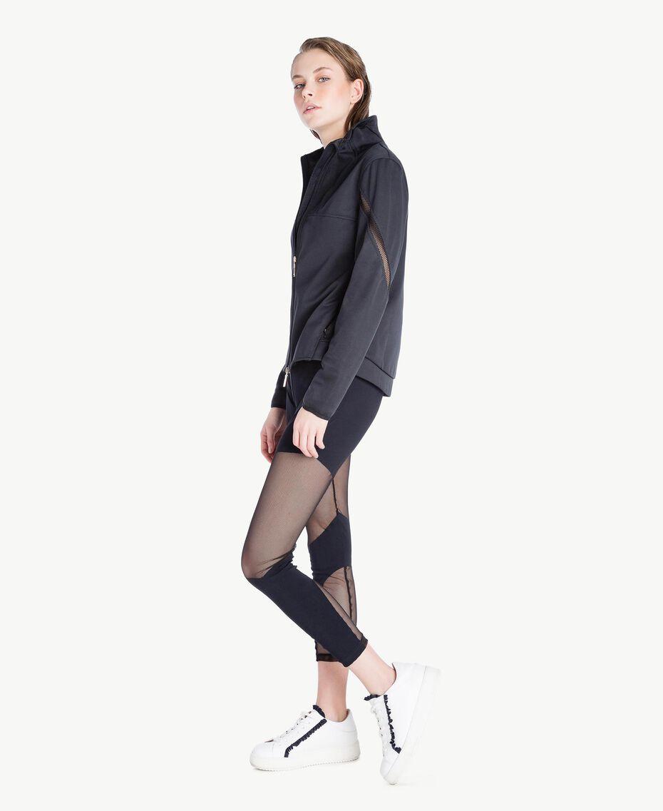 Jacke mit Netzstoff Weiß Frau LS83CC-03