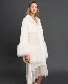 Mixed fur coat White Snow Woman 192TT2390-01