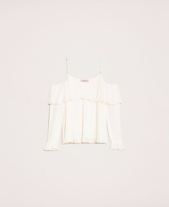 Pleated georgette blouse
