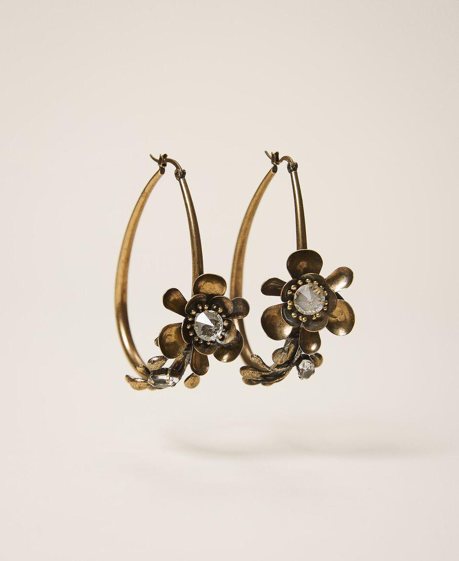 Boucles d'oreilles avec fleurs Laiton Usé Femme 202TO5051-01