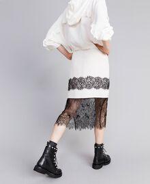 Jupe mi-longue en soie Blanc Neige Femme PA82EP-01