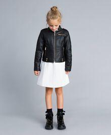 Veste en similicuir Noir Enfant GA82BA-0T