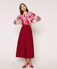 Poplin cropped trousers Light Brown Woman 201ST202C-02