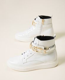 High top trainers with logo White Woman 202TCP030-01