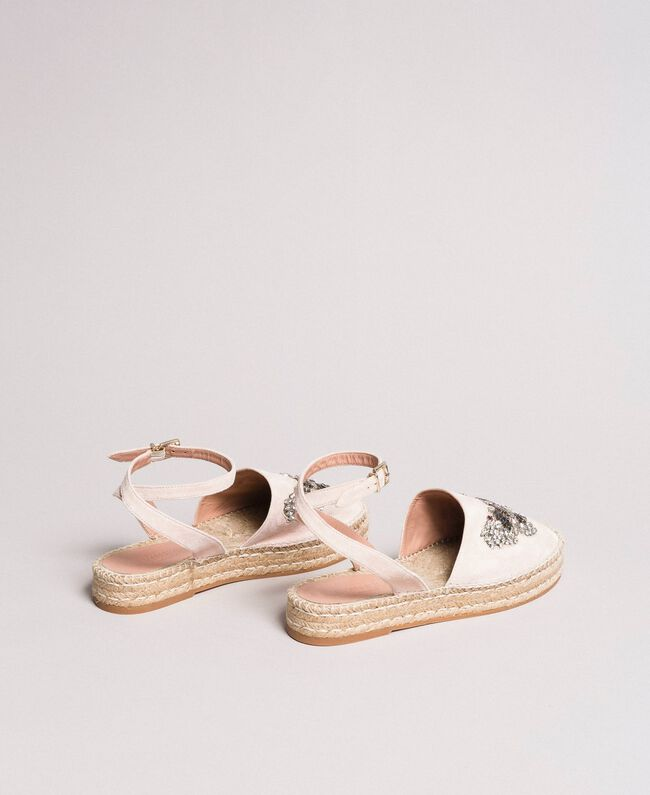 Leather espadrilles with jewelry butterfly Bud Pink Woman 191TCP10A-03