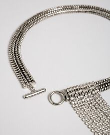 Chain choker with rhinestones Nickel Free Silver Woman 192TA4368-01