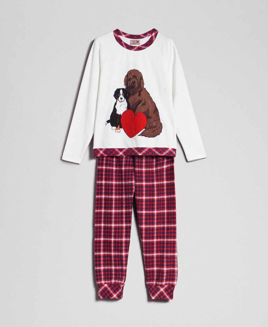 'Tury x Twinset' printed pyjamas White / Checks Woman 192LL21AA-0S