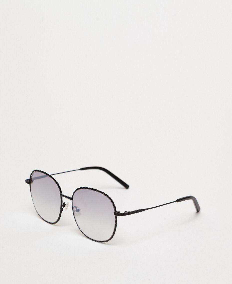 Occhiali da sole rotondi Giallo Oro Donna 999TZ4013-01