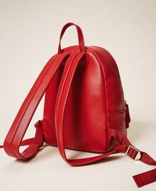 Sac à dos en similicuir Rouge Cerise Femme 202MA7021-04