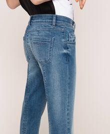 """Jeans skinny con logo Blu """"Denim Medio"""" Bambina 201GJ2375-05"""