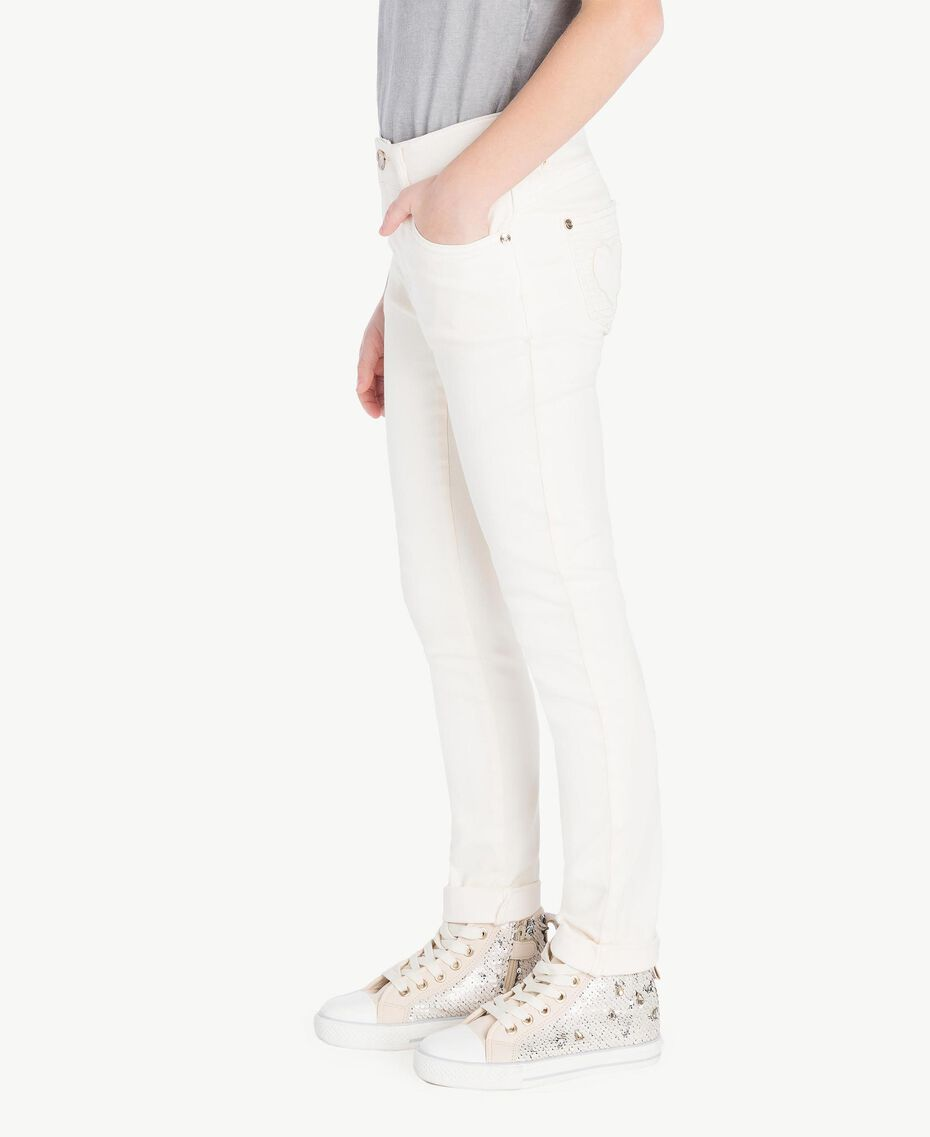 Skinny trousers Pale Cream Child GS82CP-03