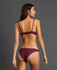 Soutien-gorge push-up à pois Imprimé Petit Pois Rouge Violet Femme 192LI6344-03