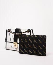 Grand sac à bandoulière avec pochette Blanc Femme 201TA7181-02