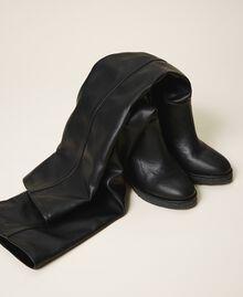 Stivali cuissardes con zeppa Nero Donna 202MCT170-02