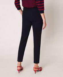 Pantalon ajusté avec poches Bleu Nuit Femme 201TP2511-03