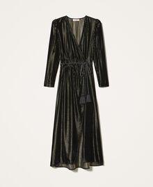 Long velvet dress Black Woman 202TT2160-0S