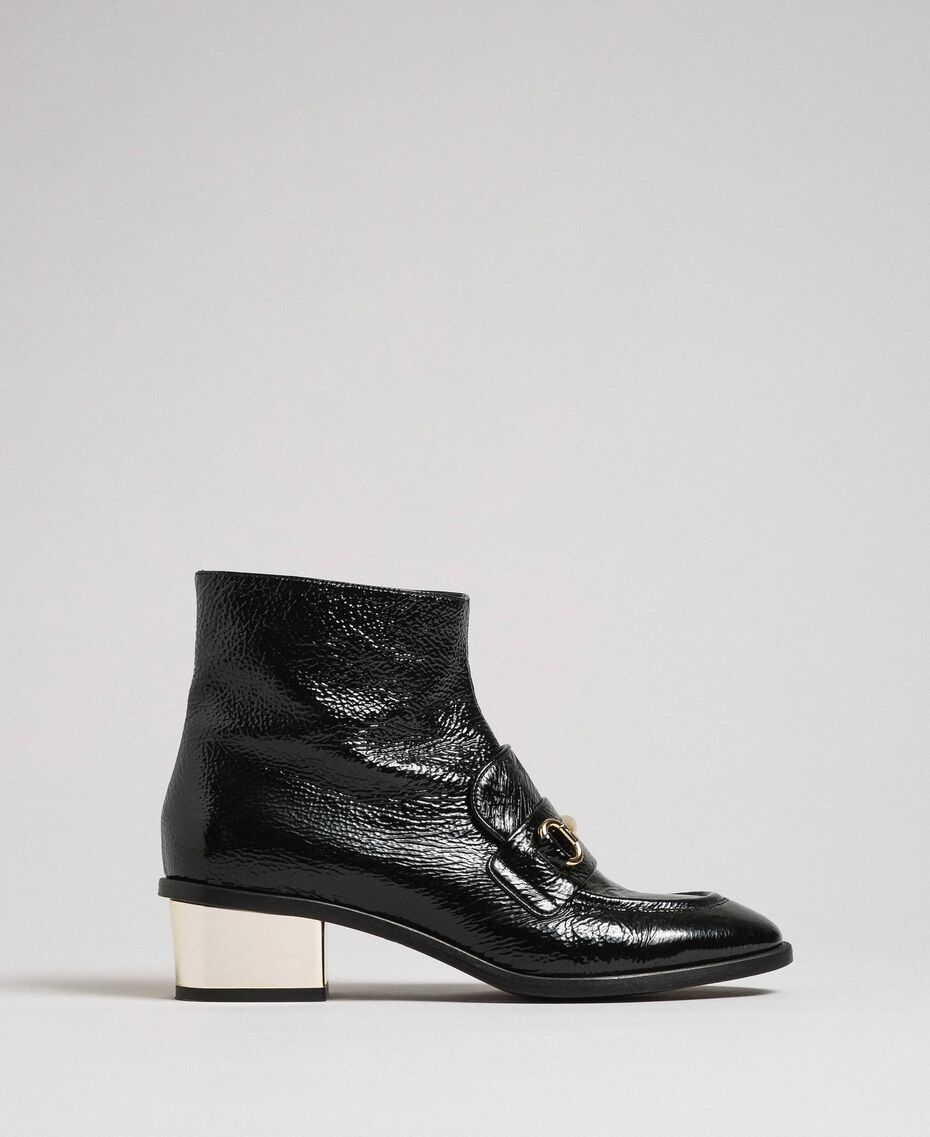 Patent leather ankle boots Black Woman 192TCP122-02