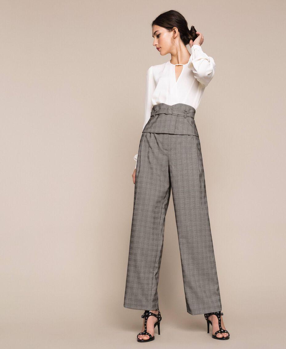 Glen plaid trousers Multicolour Glen Plaid Woman 201MP2062-01