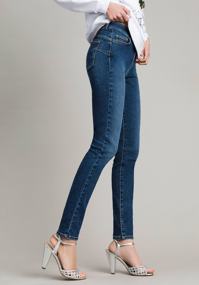 Skinny jeans with charms