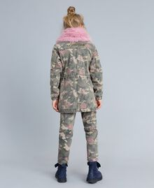 Parka in canvas stampato Stampa Camouflage Bambina GA82EA-04