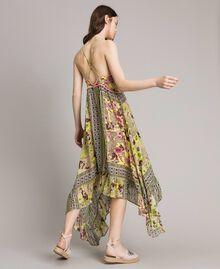 """Chiffon-Kleid mit Schalaufdruck Motiv """"Lemon Juice"""" Gelb Schal Frau 191LB2HEE-03"""