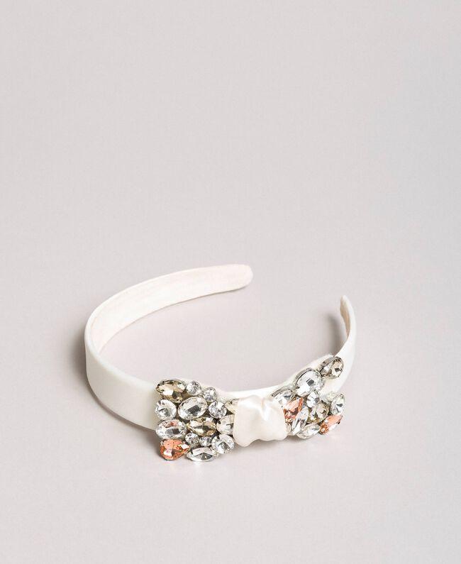 Satin-Stirnband mit Steinen Chantily Kind 191GJ4997-01