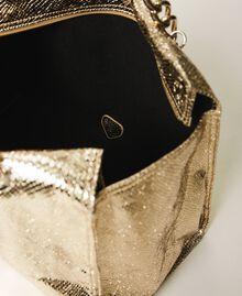 Сумка-шоппер с ламинированным тиснением Принт Питон Золотой Светлый женщина 211LM7ZLL-05
