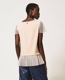T-shirt avec volant plissé Noir Femme 202MP2391-03