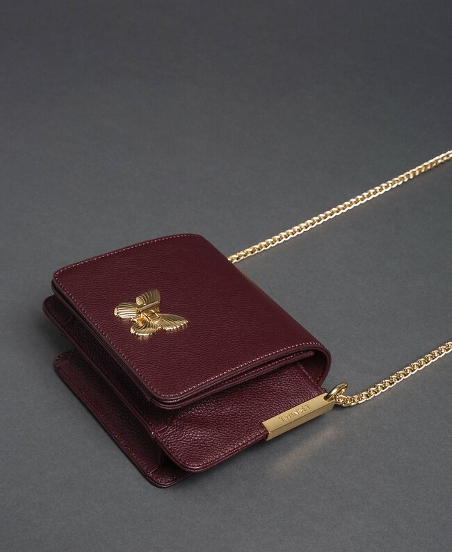 Small Bea leather shoulder bag Beet Red Woman 192TA7021-03