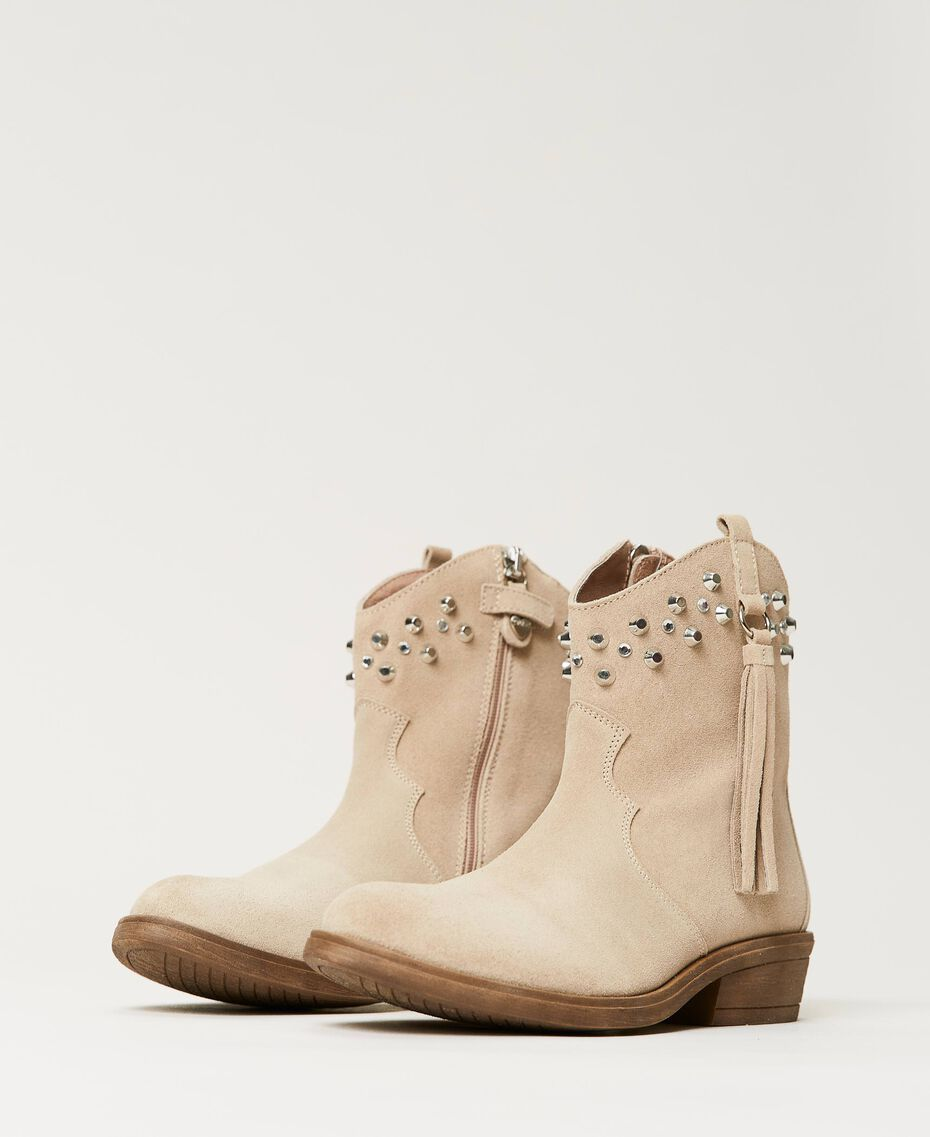 Leather Texas boots Incense Beige Child 211GCJ152-01