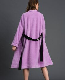 "Double breasted coat with lapels and belt ""Wisteria"" Purple Woman 192ST2180-06"