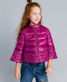 "Superleichte Steppjacke mit Herzen ""Sweet Grape""-Violett Kind GA82AX-0S"