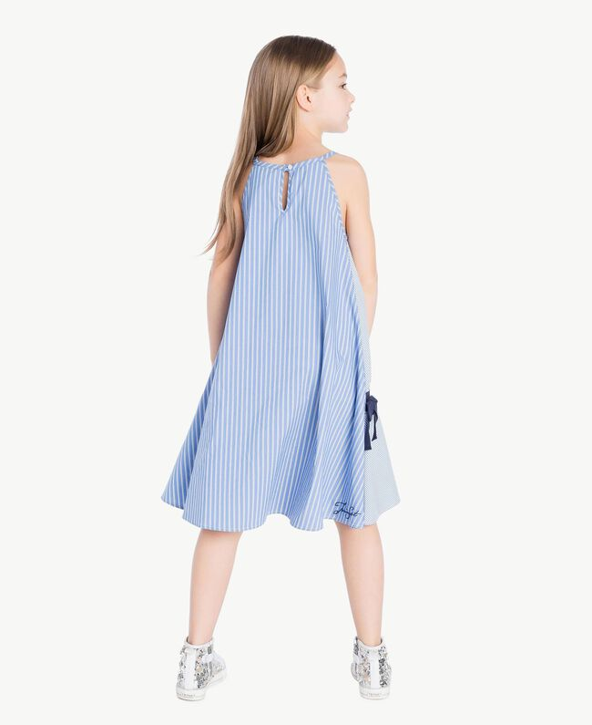 Kleid mit Streifen Jacquard Mix Bastoncini Kind GS82L2-04
