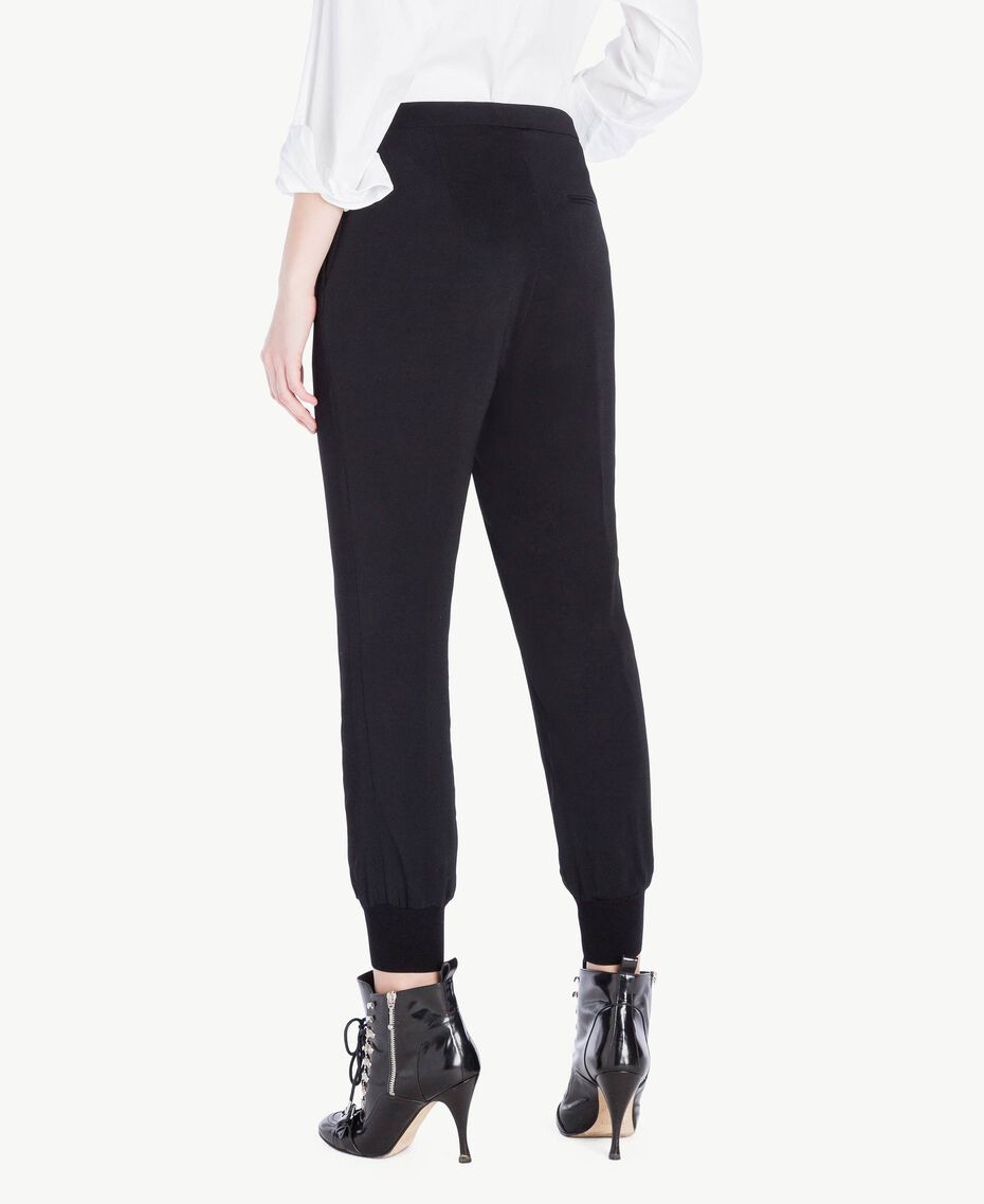 Georgette trousers Black Woman PS8258-03