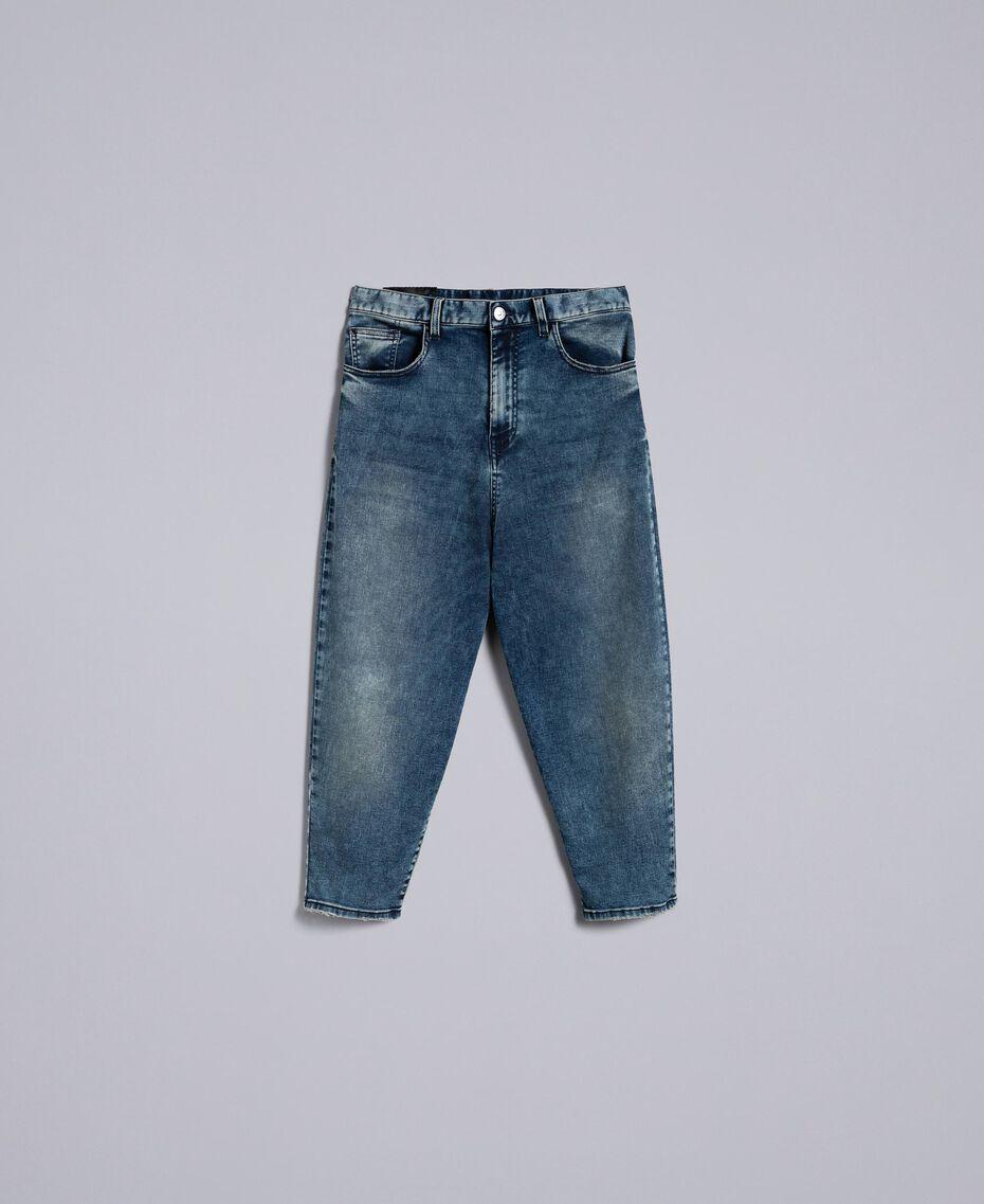 Jeans loose fit in denim soft Denim Blue Donna YA82W1-0S