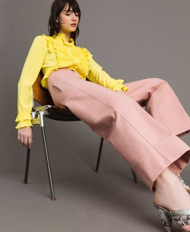 Pantalon en coton technique Brun Moyen Femme 191TP2181-01