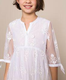 Embroidered tulle dress Off White Child 201GJ2Q60-04