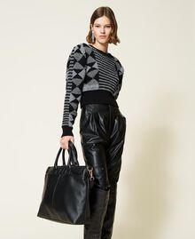 Shopper with logo Black Woman 212TB7030-0S