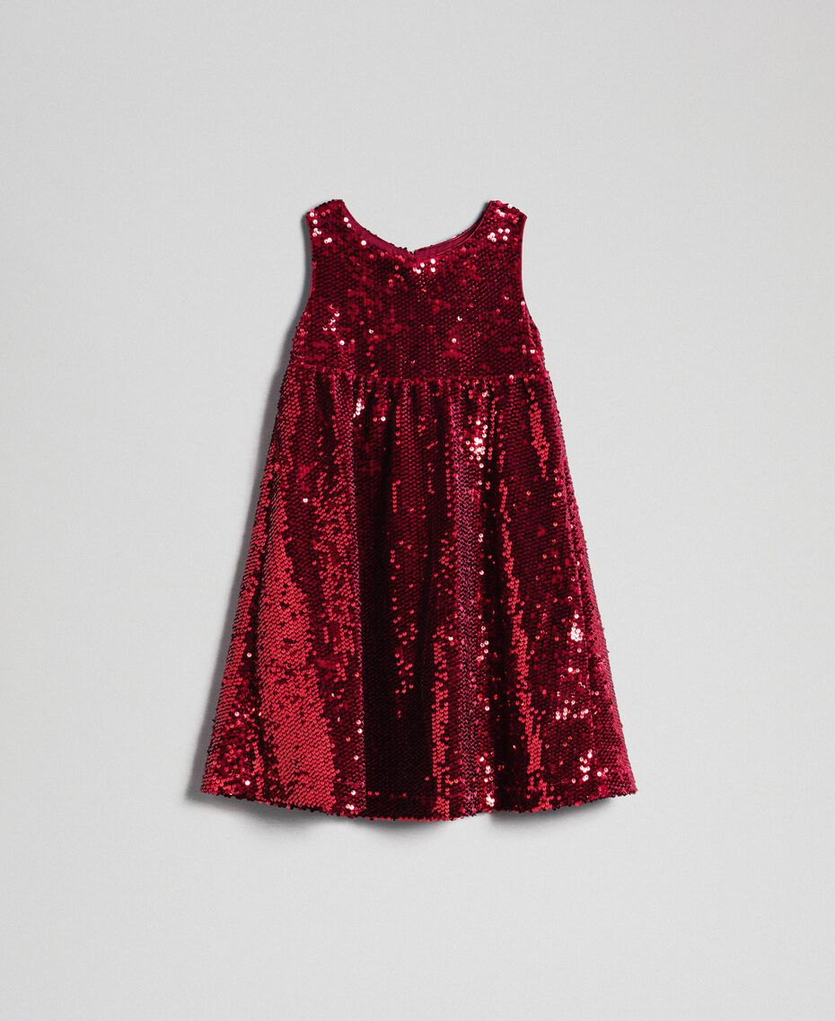Robe en velours avec sequins Rouge Ruby Wine Enfant 192GJ2091-0S