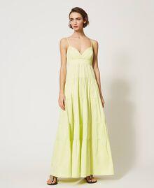 """Draco"" poplin dress with flounces ""Sunny"" Yellow Woman 211MT2265-05"