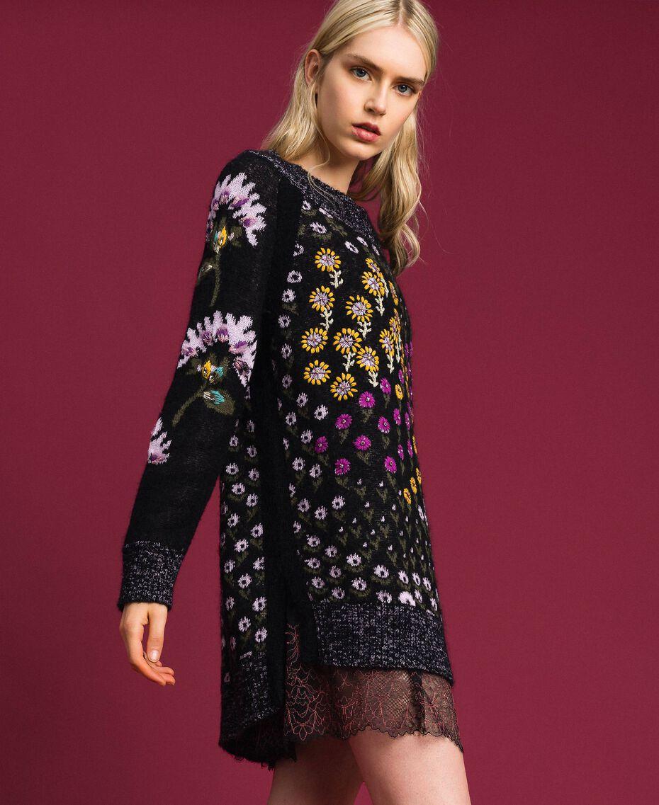 Maglia jacquard a fiori con ricami Jacquard Fiori Multicolore Donna 192TT3240-02