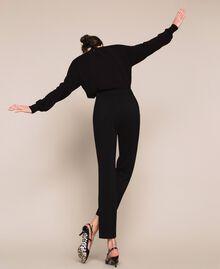 Pantalon fluide en crêpe georgette Griotte Femme 201TP202B-03
