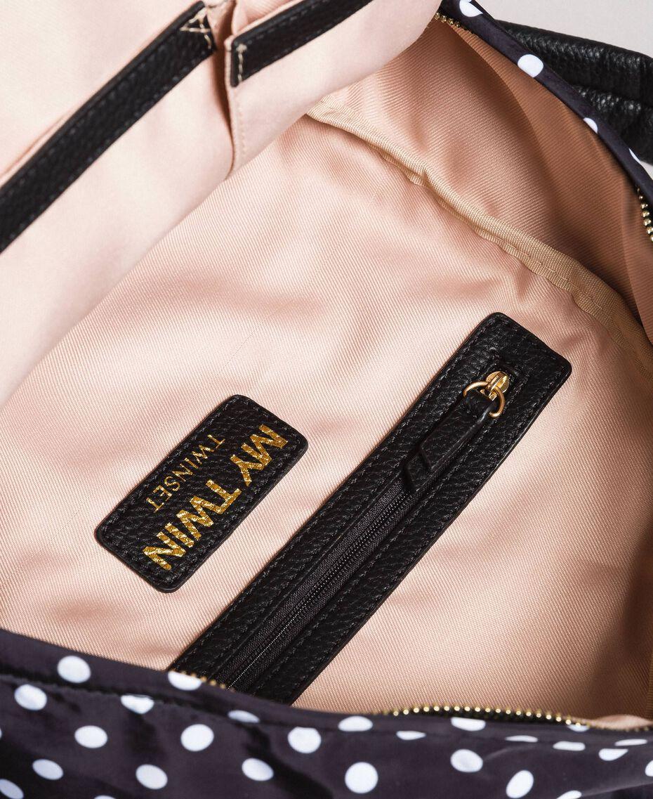 Sac à dos en tissu technique à pois Imprimé À Pois Noir / Blanc Femme 191MA7122-05