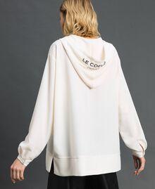 Hooded crêpe de Chine blouse White Snow Woman 192ST2080-04
