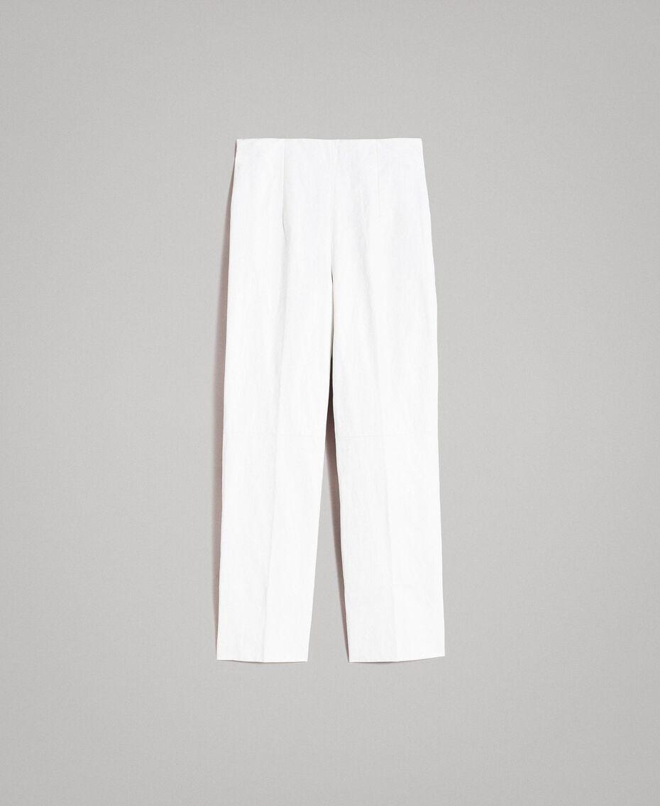 Pantalon en similicuir Blanc Femme 191TP2550-0S