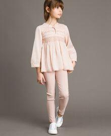 Pantalon skinny en coton Rose En fleur Enfant 191GJ2111-0T