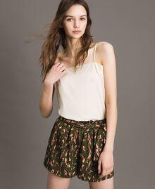 Pantalones cortos con estampado animal Estampado Animal Verde Amazonas Mujer 191LM2UJJ-01
