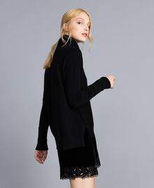 Wool and cashmere jumper Black Woman TA83AC-01
