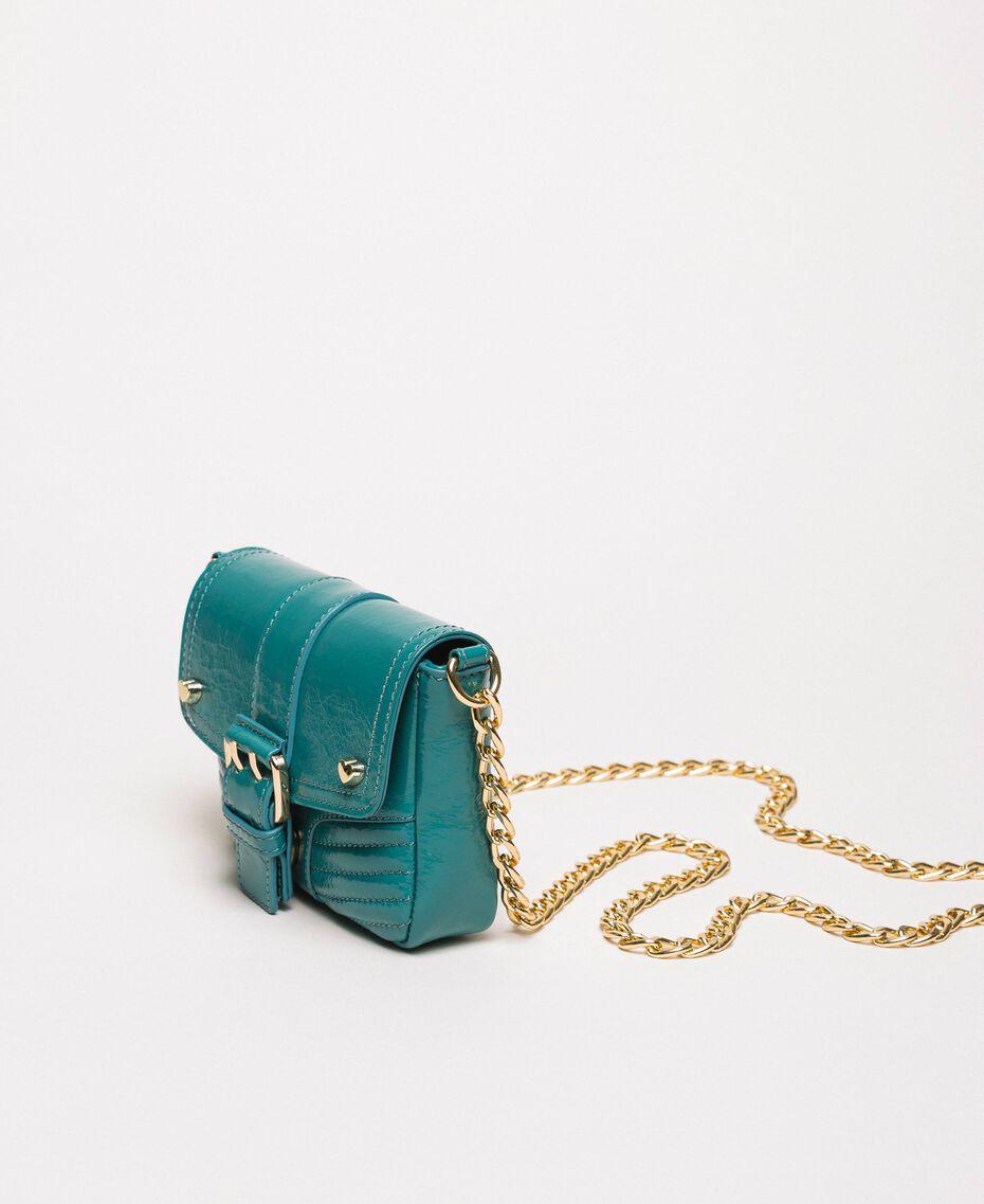 Petit sac à bandoulière Rebel en cuir Blanc Neige Femme 201TO823T-03