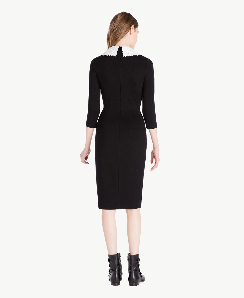 Collar dress Black Woman PS828B-03